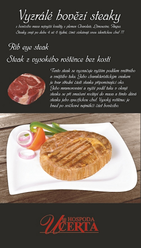 Hospoda u Čerta - Rib eye steak